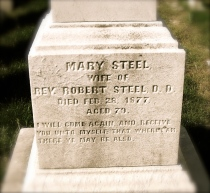 Mary Steel's gravestone