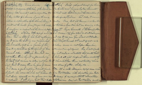 A Page from Capt. Vinton's diary written on the same day he wrote this letter to his daughters in Rhode Island.
